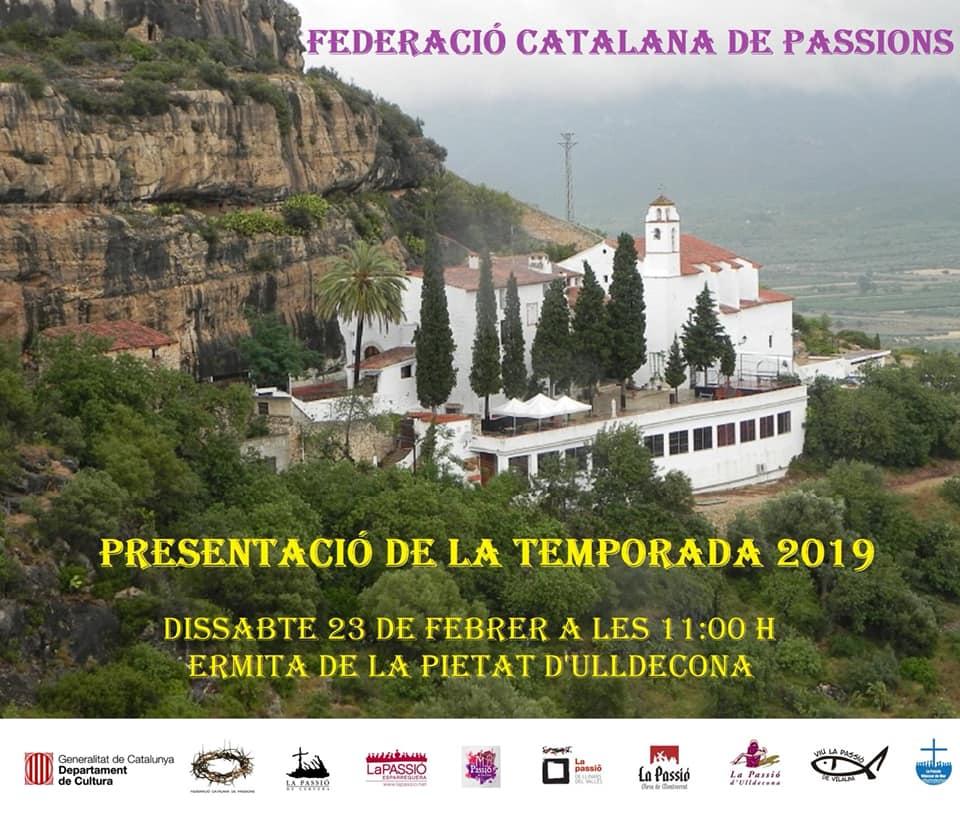 Cartell presentació temporada 2019 Federació Catalana de Passions